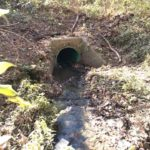 AFTER - cleaned drainage pipe