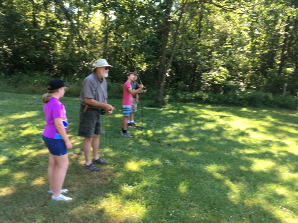 2019 BCCD LEAF 06 The students and guides practice casting 8