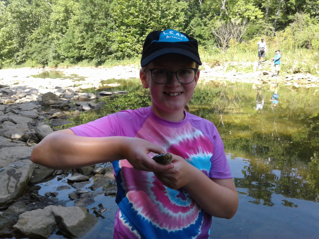 2019 BCCD LEAF 07 On the creek 09 Audrey_s first fish